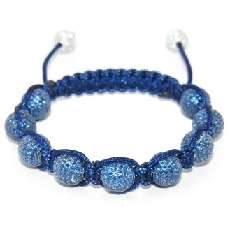 Shamballa bracelet with 10mm blue cz beads-120