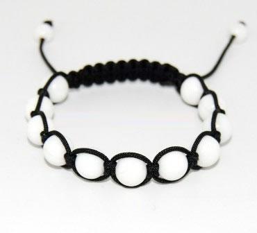 Shamballa Bracelet With 10mm White C Beads 43