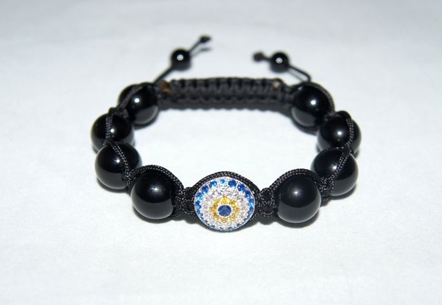 Evil Eye Bracelet with black onyx beads - 502