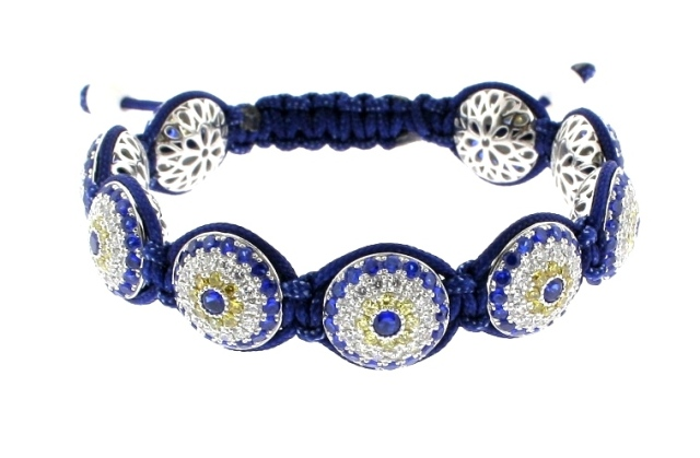 Evil Eye Bracelet with 9 of 14mm Evil Eye beads - 513