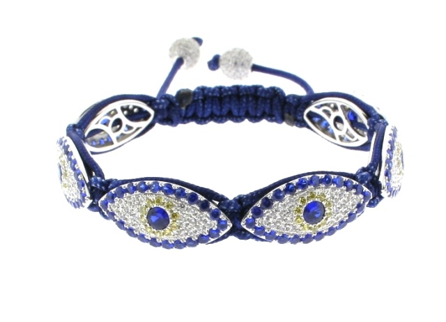Evil Eye Bracelet with 6 of 24mm Evil Eye beads - 514